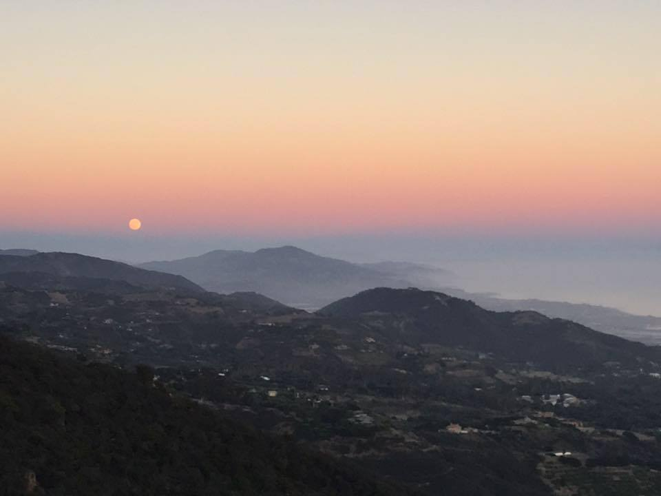 Full Moon over Montecito CA