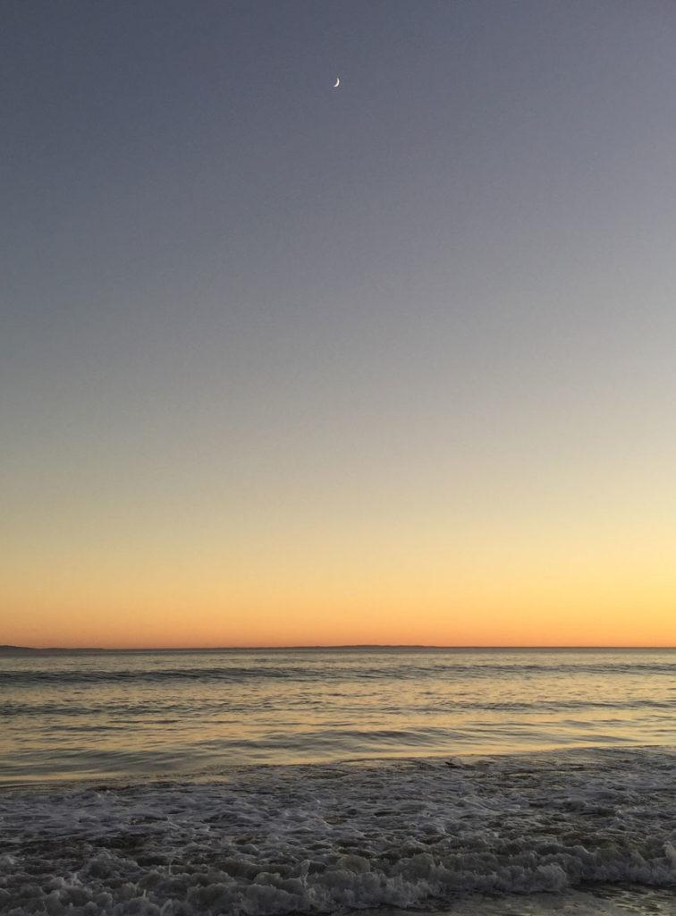 Goleta Beach Sunset and Moon