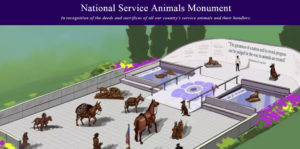 National Service Animals Monument