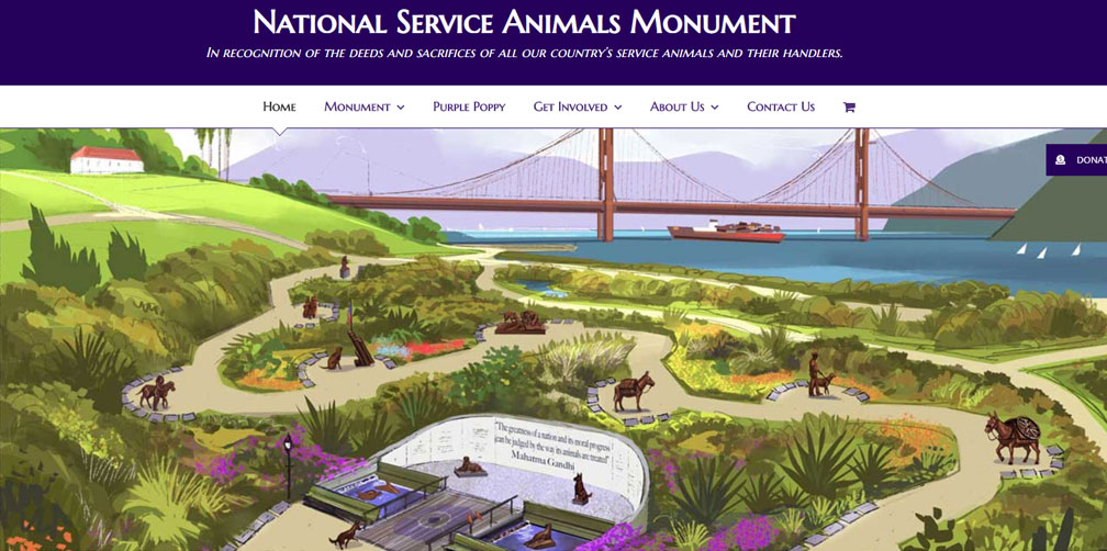Santa Barbara Web Design - National Service Animals Monument